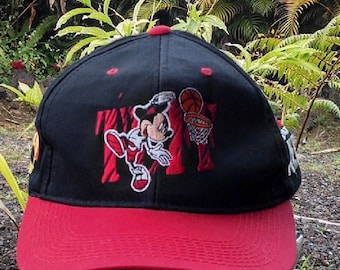 Mickey Mouse Baseball Cap, Vintage Mickey Unlimited Baseball Cap, Nothing But Net Mickey Mouse Hat, Collectible Caps and Hats
