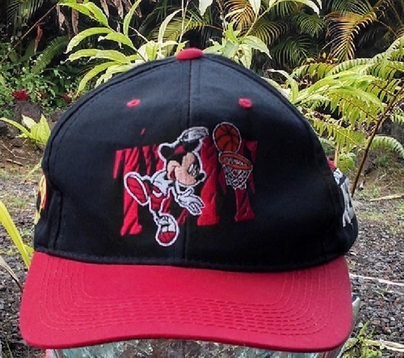Vintage Mickey Unlimited Baseball Cap, Basketball Mickey Hat,  Nothing But Net Mickey Mouse Hat, Collectible Mickey Mouse Baseball Cap
