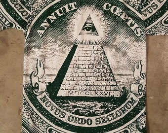 All Seeing Eye shirt Dollar Pyramid All Seeing Eye  shirt dollar shirt