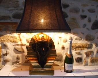 Pharaoh Table Lamp // Beautiful egyptian decorative lamp // Tutankhamun
