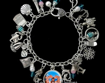 H2O Just Add Water Mermaid Themed Charm Bracelet, Cleo, Emma, Rikki