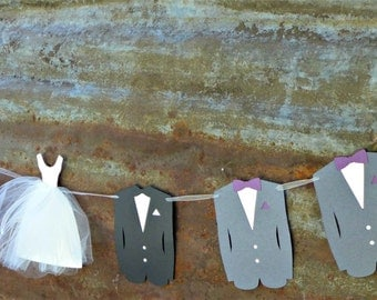 Wedding Party Banner, Hen Party, Bridal Shower Decoration, Unique Wedding Decor,  Bride, Groom, Bridesmaids, Groomsmen - Your Colors