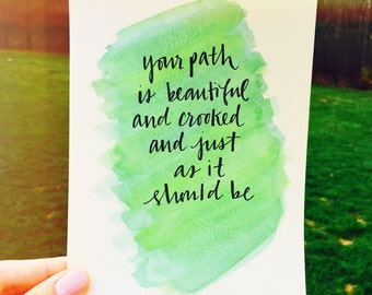 Custom Watercolor - choose your own quote