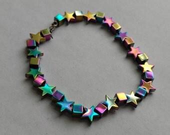 Iridescent Stars&Squares Bracelet