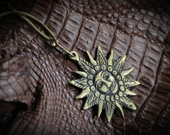 Sun Chain - Bronze - Inca Sol - South America - Tribal - Hippie - Shamanic - Spiritual - Boho - Ethnic - Travel - Unique