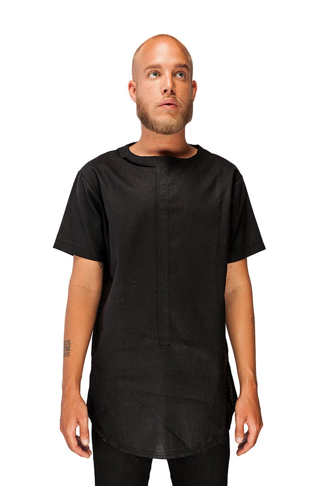 Mens Linen Shirt Mens Black Shirt Black Shirt for mens by ...