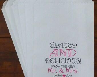 Wedding Favor Donut Bag, Candy Buffet Bags, Treat Bags,  Personalized Favor Treat Bag, Party Favor, Bridal Shower Favor Bag, Doughnut Bag