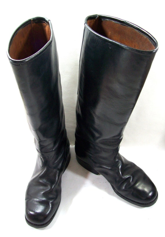 Motorcycle boots us size 8 5 officer leather boots boots Police motor boots