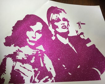 Absolutely Fabulous (AbFab) Patsy and Edina drinking champagne and smoking vinyl decal