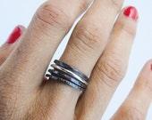 Sterling Silver Stackable rings, Handmade Minimalist Rings