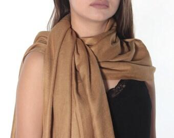 Camel Pashmina Scarf