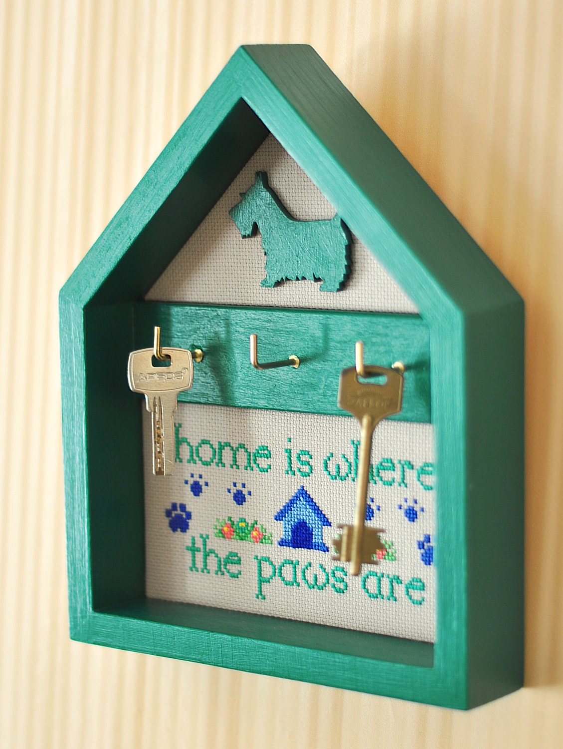 Key Holder Dog Paws Key Hanger Home Decor Wall By