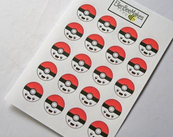 Kawaii Poke Ball Stickers
