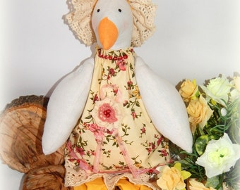 Tilda goose toy, Fabric Goose, Home decor, Easter Goose, textile goose, Kitchen decor