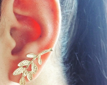 Gold Sage Ear pin (1 pc)