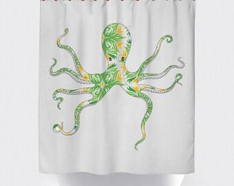 Octopus Shower curtains, Ocean life shower curtains,American Made shower curtain,Made in USA, Octopus,Tentacles.