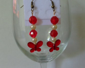 Red Butterfly earrings