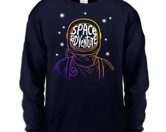 Space Adventure long sleeve kids t-shirt
