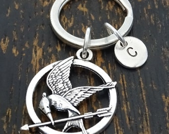 Hunger Games Keychain, Custom Keychain, Custom Key Ring, Hunger Games Charm, Hunger Games Pendant, Hunger Games Jewelry, Archery Jewelry