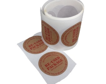 Re-Used Package Labels - ROLL of 50