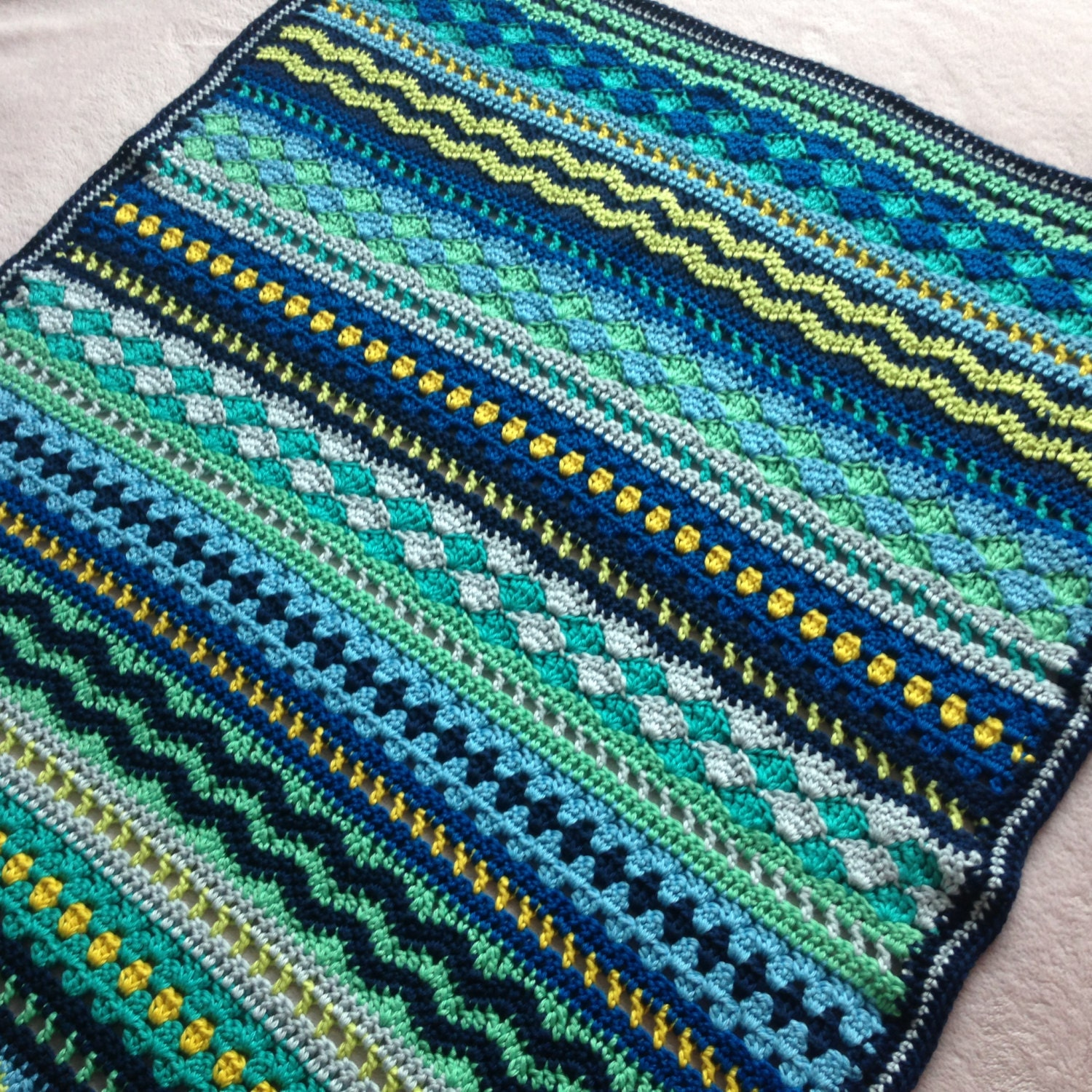 Crochet baby blanket pattern tutorial baby blues blanket crochet baby blanket pattern tutorial baby blues blanket crochet pattern mixed stitch blanket baby boy baby girl instant download bankloansurffo Choice Image
