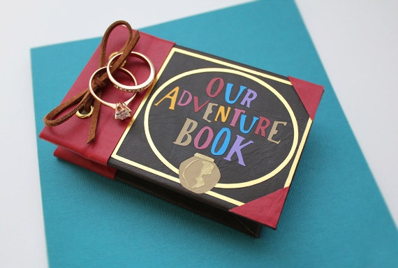our adventure book engagement ring box personalized ring box