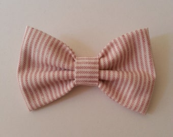 Red Stripe Bow Tie - Baby // Toddler // Child - Clip On