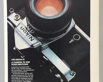 1980 Lot of 2 Nikon FE Print Ads - Camera