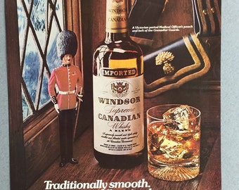 1976 Windsor Canadian Whisky Print Ad