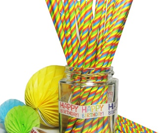 Paper drinking straws 25 50 100 pieces retro vintage striped straws for party decorations wedding baby shower decorations and tableware