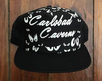 Vintage Carlsbad Caverns Trucker Hat Snapback Baseball Cap