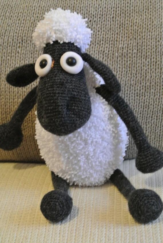 Etsy Amigurumi Sheep : Shaun the sheep. Toy handmade. Amigurumi. Gift for children.