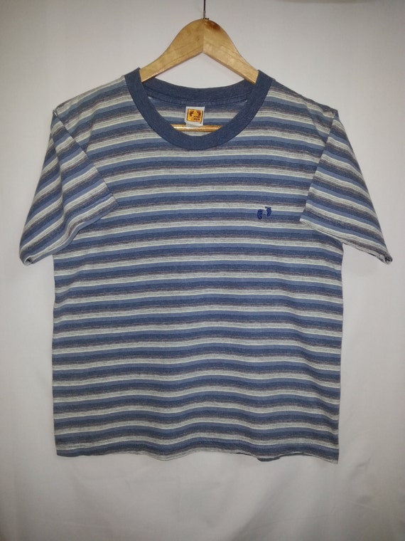 retro vintage hang ten stripe t shirt size m surfer