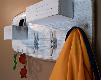 Coat Rack Mail Key Holder Cell Phone Caddy   Boat Cleat Hooks Nautical  Decor   Wall Part 50
