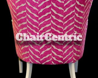 Pink Zebra Accent Chair with Linen