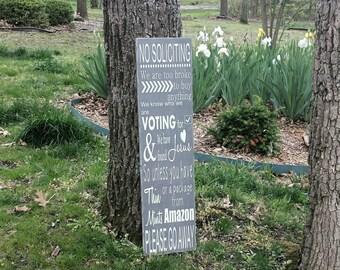 READ SHOP UPDATES No Soliciting Sign, No Solicitors Sign, No Solicitation Sign, Wood Porch Signs, Wooden Welcome Signs, Wooden Porch Sign