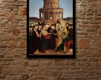 THE WEDDING of the VIRGIN - Renaissance oil painting Art poster limited edition of 5 digital prints signed & numered.