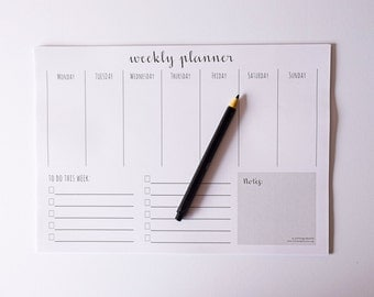 Weekly Planner Printable / Instant Download Desk Planner