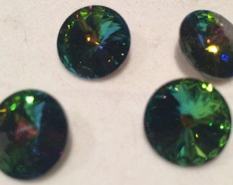 Swarovski Rivoli, 14mm, Crystal VM, 2-1122-005, 2 Pieces, Austrian Crystal