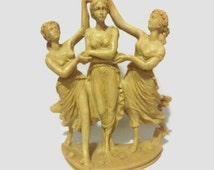 Vintage Three Graces Statue Daughters of Zeus Nymphs Greek Mythology Gift for Mom Wife Daughter Gift for Strong Women You Appreciate