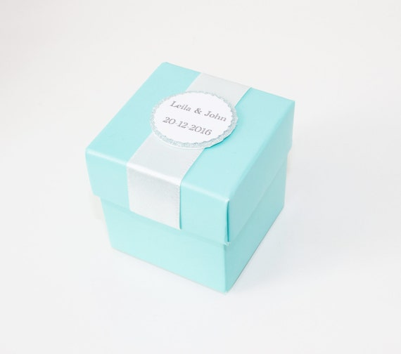 Aqua Wedding Favor Boxes : Turquoise blue favor boxes teal wedding party