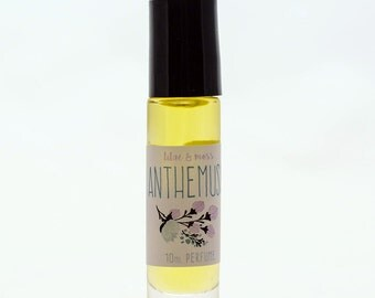 ANTHEMUSA perfume oil roll-on / vegan perfume, fragrance oil, ocean scent, coconut milk, kelp, sea salt, flowers