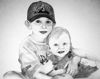 Pencil portraits from photographs