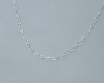 Sterling 2.7mm Long-Short (1-1)  Large Chain