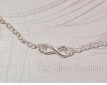 Silver Infinity Ankle Bracelet, Silver Anklet, Infinity Anklet, Charm Ankle Bracelet, Silver Charm Ankle Chain, Infinity Charm Anklet, Love