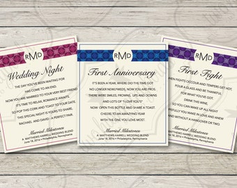 Wedding Milestone Wine Labels Poem First Wine Gift Set, Personalized Custom Bridal Shower Wedding Gift Idea, Printable Digital Download