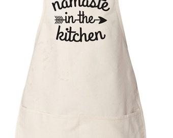 Funny Apron, Cooking Gift, Kitchen Gift, Funny Kitchen Apron, Namaste Gift