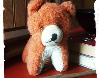 Rare Little Mohair Stuffed Dog Conjured in Japan 1950s