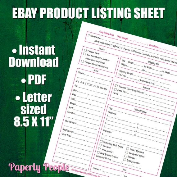 ebay products listing sheet 2 versions evernote dropbox. Black Bedroom Furniture Sets. Home Design Ideas