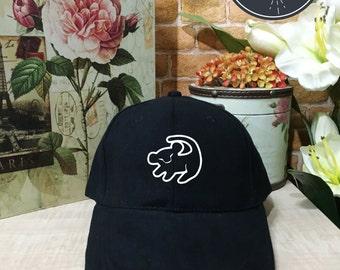 Simba Baseball Hat,The Lion King  Baseball Cap Low Profile, Black/White Pinterest Instagram